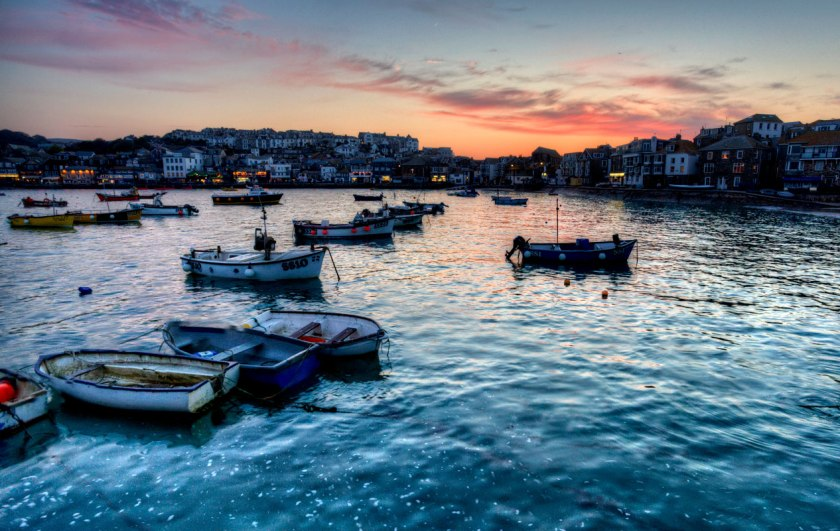 st-ives-sunset-harbour